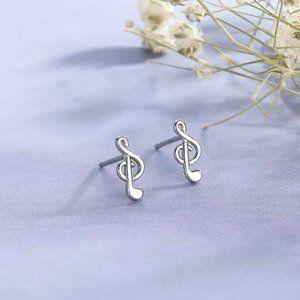925 Minimalist  Music Sharp Earrings